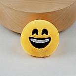 New Arrival Cute Emoji Happy Face Key Chain Plush Toy Gift Bag Pendant