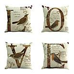 набор из 4 европейских стиле ретро подушка любви творческих птиц наволочка случае