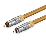 JSJ 1RCA Connect Cable, 1RCA to 1RCA Connect Cable Male - Male Gold-plated copper 1.5m(5Ft)