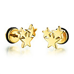 Men's Stud Earrings Fashion Rock Titanium Steel Star Jewelry For Daily Casual