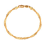 Women's Men's Chain Bracelet Jewelry Fashion Copper Gold Plated Geometric Jewelry ForParty Special Occasion Halloween Anniversary