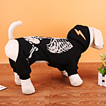 Dog Costume Coat Sweatshirt Dog Clothes Party Cosplay Halloween Christmas Skulls Red Black
