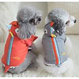 Собака Костюмы Одежда для собак Косплей Животные Серый Красный Розовый