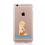 For iPhone X iPhone 8 Case Cover Transparent Pattern Back Cover Case Sexy Lady Soft TPU for Apple iPhone X iPhone 8 Plus iPhone 8 iPhone