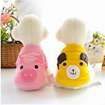 Собака Толстовка Одежда для собак На каждый день Носки детские Белый Желтый Розовый