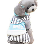 Dog Clothes/Jumpsuit Dog Clothes Casual/Daily Stripe Yellow Blue Blushing Pink