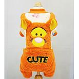 Собака Комбинезоны Одежда для собак На каждый день Носки детские Оранжевый Желтый Синий Розовый