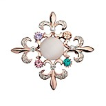 Women's Brooches Rhinestone Fashion Bling Bling Rhinestone Alloy Flower Jewelry Jewelry For Party Going out