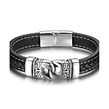 Men's Bangles Hip-Hop Leather Geometric Jewelry For Casual