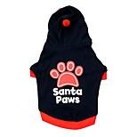 Собака Толстовки Одежда для собак На каждый день Геометрические линии Черный Красный