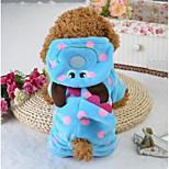 Собака Комбинезоны Одежда для собак На каждый день Носки детские Синий