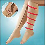 1pair компрессионные носки застежки -молнии носки для ног с коленом открытый носок