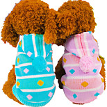Собака Толстовки Одежда для собак На каждый день геометрический Красный Синий