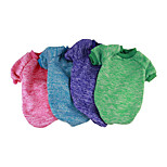 Dog Sweatshirt Dog Clothes Casual/Daily Solid Blushing Pink Blue Green Red Fuchsia