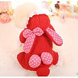 Собака Комбинезоны Одежда для собак На каждый день Горох Красный Розовый
