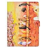 Назначение iPad (2017) Чехлы панели Бумажник для карт со стендом Флип С узором Магнитный Чехол Кейс для Кот Твердый Искусственная кожа для