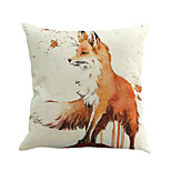 1 Pcs Creative Fox Animal Printing Cushion Cover Novelty Pillow Case Square Pillow Cover