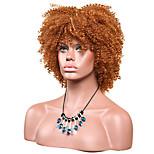 Women Synthetic Wig Capless Short Afro Jheri Curl Medium Auburn African American Wig For Black Women Lolita Wig Party Wig Halloween Wig