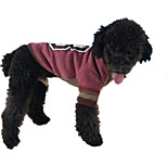 Dog Sweatshirt Dog Clothes Casual/Daily Letter & Number Blue Red Orange