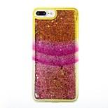 Pour iPhone X iPhone 8 Etuis coque Liquide Coque Arrière Coque Brillant Flexible PUT pour Apple iPhone X iPhone 8 Plus iPhone 8 iPhone 7