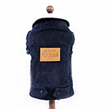 Dog Coat Dog Clothes Casual/Daily Keep Warm Solid Dark Blue Red Navy Khaki
