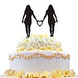 акриловый торт с женским торт, украшенный лесбийским пирогом