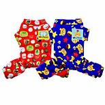 Собака Комбинезоны Одежда для собак На каждый день Носки детские Красный Синий