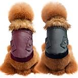 Собака Плащи Одежда для собак На каждый день Спорт Мода Сплошной цвет Розовый Черный