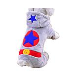 Собака Комбинезоны Одежда для собак На каждый день Звезды Серый