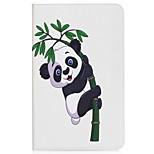 panda и bamboo держатель карточки держателя карточки с подставкой flip магнитный pu кожаный случай для галактики samsung tab 10.1 t580n