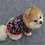 Dog Sweatshirt Dog Clothes Casual/Daily Geometic Fuchsia Purple Black
