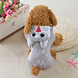 Dog Costume Dog Clothes Casual/Daily Cartoon Gray