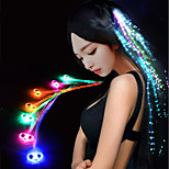 cheap -Luminous Braid 7 Colour Glow Fiber Braid Hair Wigs Bar KTV Party 32CM