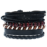 Men's Women's Leather Bracelet Fashion Leather Geometric Jewelry For Casual