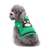 Собака Свитера Одежда для собак Хэллоуин Животные Оранжевый Красный Зеленый Синий