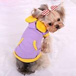Собака Жилет Одежда для собак На каждый день Сплошной цвет Лиловый Синий Розовый