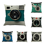набор из 6 ретро 3d камеры печати наволочки случае квадратный диван подушки покрытия личности подушки покрытия