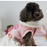 Dog Dress Dog Clothes Casual/Daily Bowknot Pink For Pets