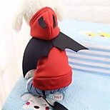 Dog Costume Shirt / T-Shirt Hoodie Jumpsuit Dog Clothes Casual/Daily Jeans Red Costume For Pets