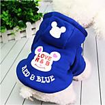 Cane Felpe con cappuccio Abbigliamento per cani Casual Da principessa Nero Blu scuro Fucsia