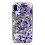 For iPhone X iPhone 8 Case Cover Transparent Pattern Back Cover Case Butterfly Flower Soft TPU for Apple iPhone X iPhone 8 Plus iPhone 8
