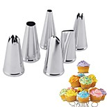 6PCS Stainless Steel Cream Nozzle Mouth Jam Cream Tip Set Cake Decorating Mouth