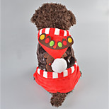 Dog Costume Dog Clothes Christmas Reindeer Brown Red