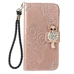 Case For Sony XA Ultra Holder Wallet with Rhinestone Stand Flip Embossed Pattern Full Body Case Owl Hard PU Leather