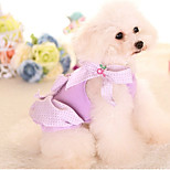 Dog Dress Dog Clothes Casual/Daily Princess Purple Red Blue