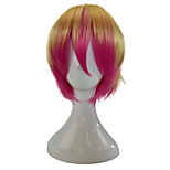 Women Synthetic Wig Capless Short Straight Gold Pink Ombre Hair Party Wig Cosplay Wigs Costume Wig