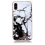 Pour iPhone X iPhone 8 Etuis coque Ultrafine Motif Coque Arrière Coque Marbre Flexible PUT pour Apple iPhone X iPhone 8 Plus iPhone 8