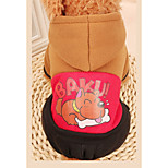 Dog Clothes/Jumpsuit Dog Clothes Casual/Daily Cartoon Red Orange