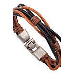 Men's Women's Leather Bracelet Fashion Hip-Hop Leather Alloy Round Jewelry For Going out Club