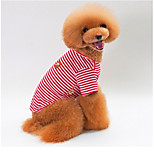 Dog Shirt / T-Shirt Dog Clothes Casual/Daily Stripe Red Green Blue Costume For Pets